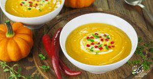 طرز تهیه سوپ کدو حلوایی تند