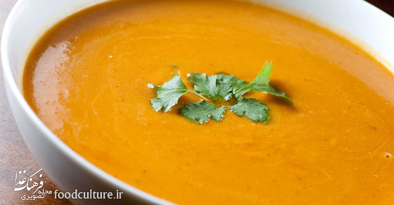 سوپ کدو حلوایی و خواص آن