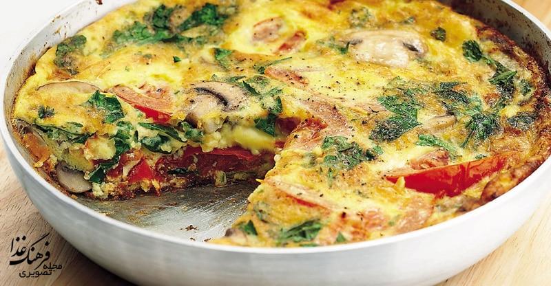 طرز تهیه فریتاتا قارچ و گوجهفرنگی